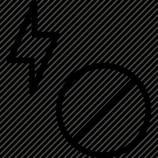 effect, light, noflash icon