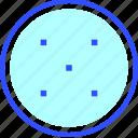 blur, editor, graphic, photo, software, zoom icon