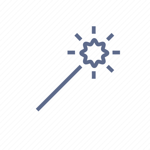 bright, edit, light, magic wand, retouch, stick, wand icon