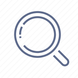 find, look, loupe, magnifier, quest, scan, search icon