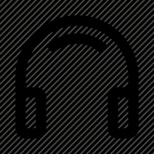 headphone, headphones, music, reality icon