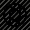 camera, lens, shutter icon