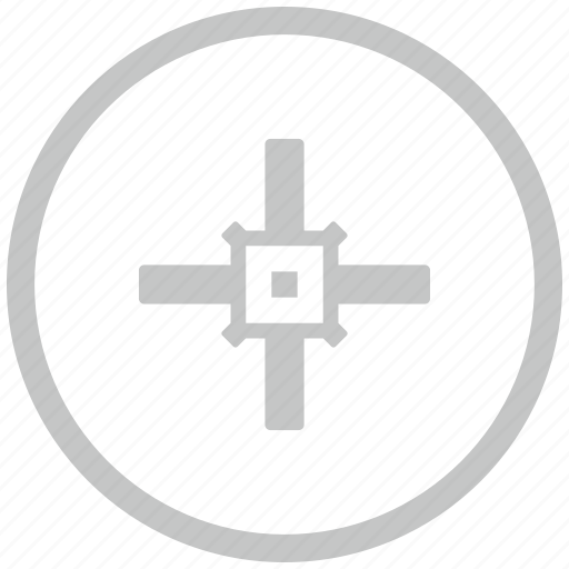 aim, border, circle, cursor, target icon