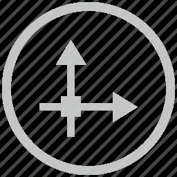 axis, border, circle, grid, math icon