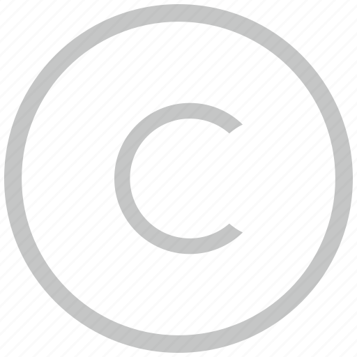 border, c, circle, copy, copyright, letter icon