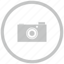 border, camera, circle, digital, photo icon