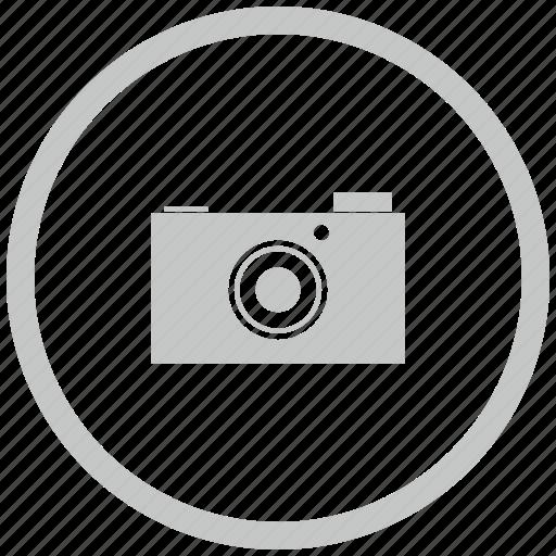 border, camera, circle, digital, photo icon