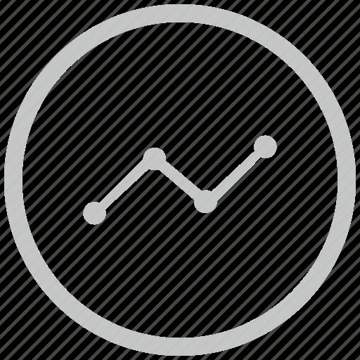 border, chart, circle, data, grow icon