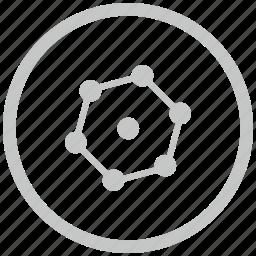 border, circle, complex, figure, geometry icon