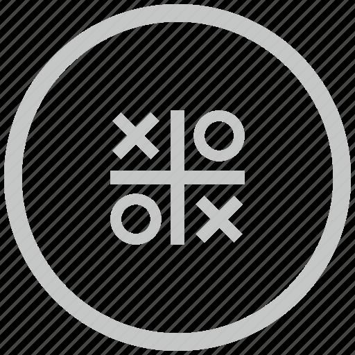 border, circle, cross, game, zero icon