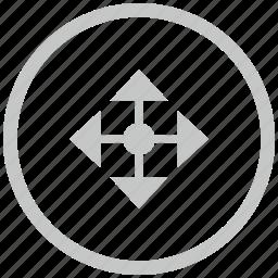 border, circle, cursor, drag, drop icon