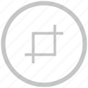 border, circle, crop, edit, tool icon
