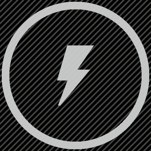 border, circle, electric, rock, shock icon