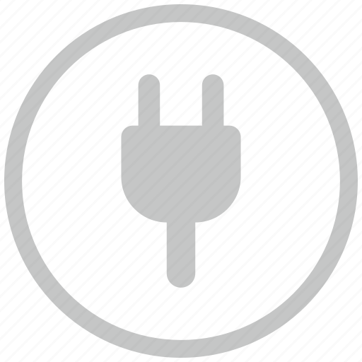 border, circle, electrical, electricity, plug icon