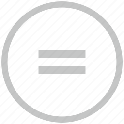 border, circle, equal, function, math icon