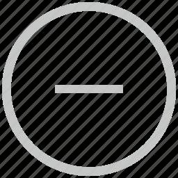 border, circle, cut, erase, minus icon