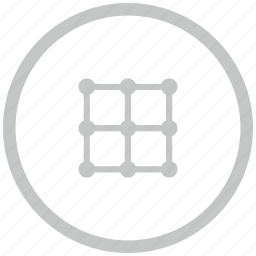 border, circle, grid, image, transform icon