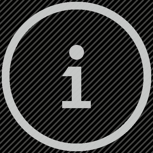 border, circle, data, help, info icon