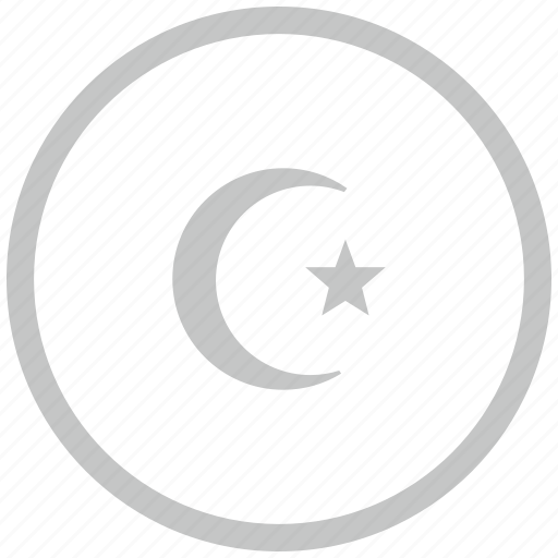border, circle, islam, religion icon