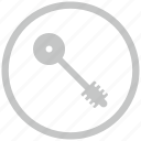 border, circle, key, pass icon