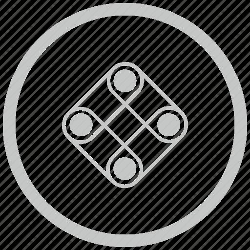 border, circle, game, logic, play icon