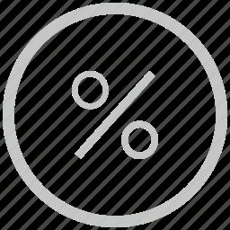 border, circle, function, math, percent icon