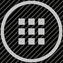 bar, border, circle, menu, tile icon