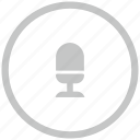 border, circle, mic, microphone, record icon