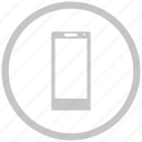 border, circle, mobile, phone icon