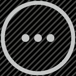 border, circle, dots, menu, more icon