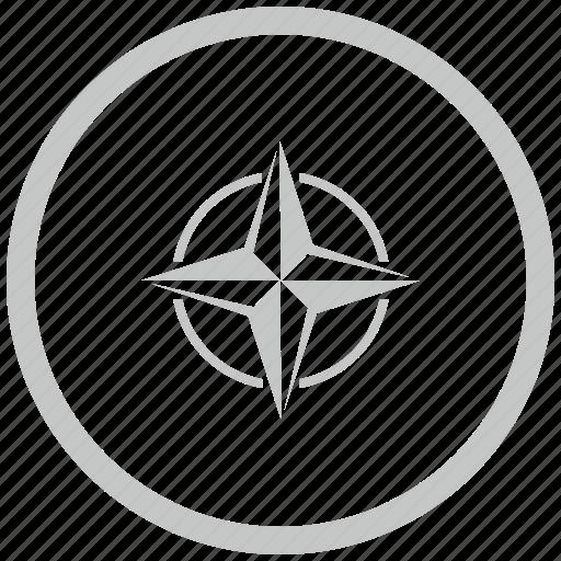 alliance, border, circle, nato icon