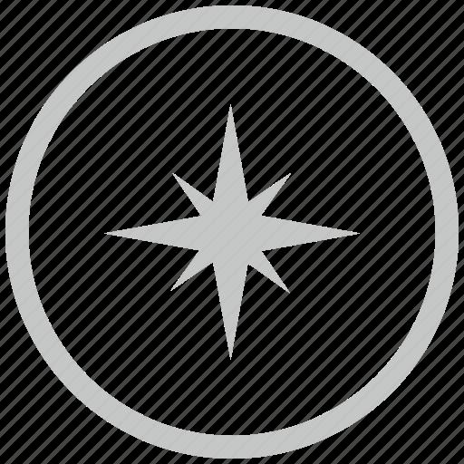 border, circle, compass, navigation, way icon