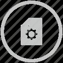 border, circle, file, new, settings