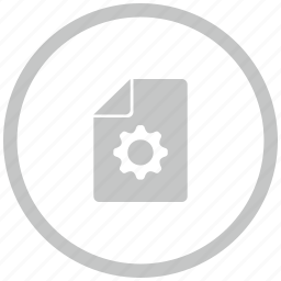 border, circle, file, new, settings icon