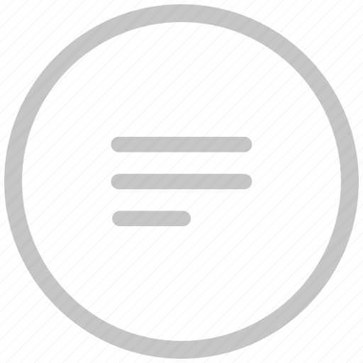 border, circle, editor, notepad, text icon