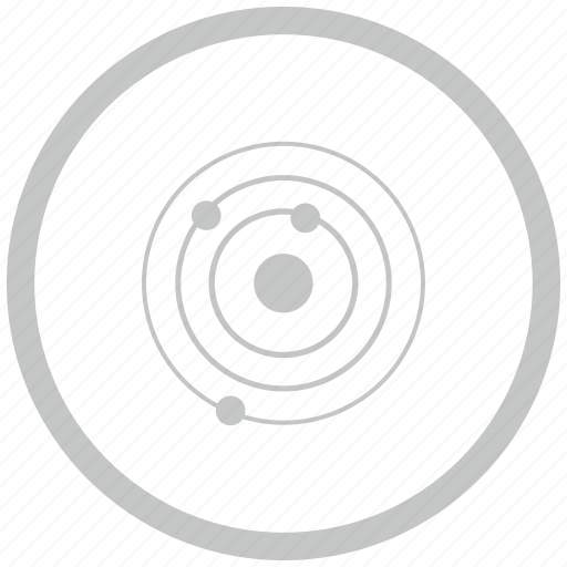 border, circle, model, orbit, space icon