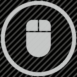 border, circle, input, mouse, pc icon