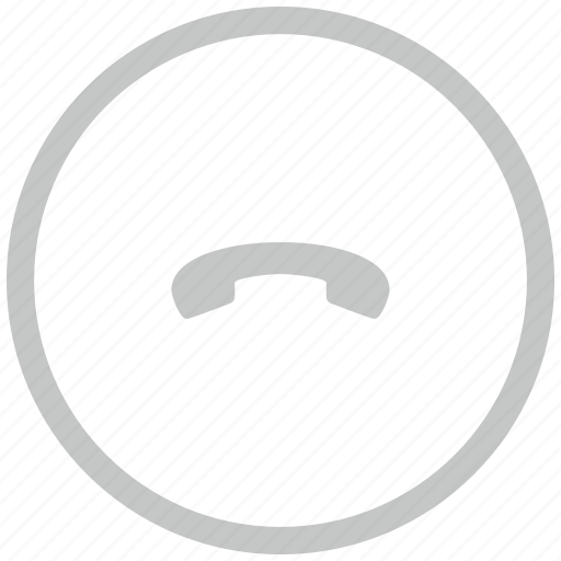 border, circle, dialog, end, phone icon