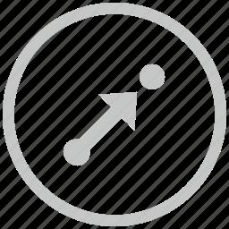 aim, border, circle, pointer, target, way icon