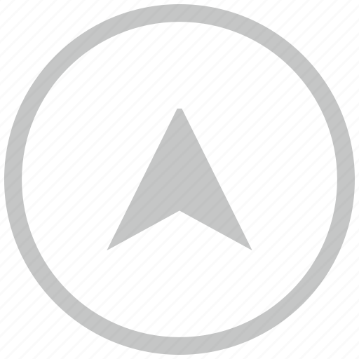 border, circle, drive, pointer, way icon