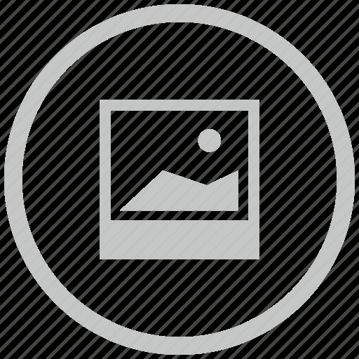 border, circle, photo, polaroid, shot icon