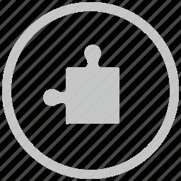 border, circle, game, logic, puzzle icon