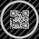 barcode, border, circle, code, qr