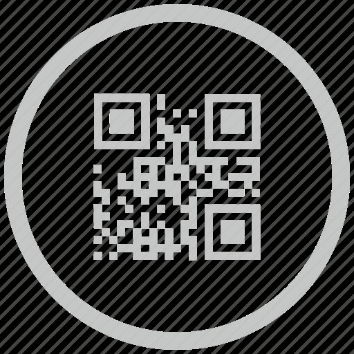 barcode, border, circle, code, qr icon