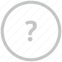ask, border, circle, quest, question icon