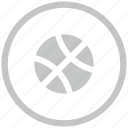 ball, border, circle, game, sport icon