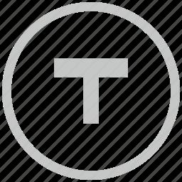 border, bus, circle, t, transport icon