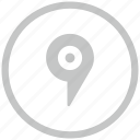 border, circle, geo, pointer, tag