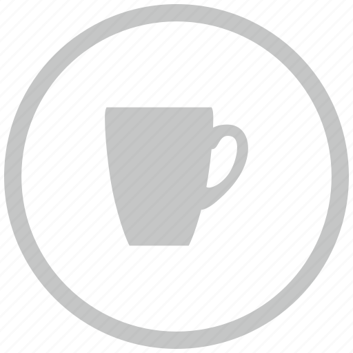 border, cafe, circle, cup, drink, tea icon