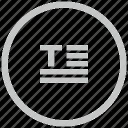 border, circle, paragraph, text icon